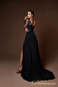 Вечернее платье 9059. Цвет чёрный. Вид 2