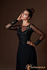 Вечернее платье 9059. Цвет чёрный. Вид 3