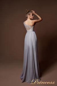 Вечерние платья 9061. Цвет серый. Вид 4