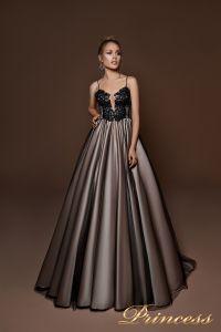 Вечернее платье 9067. Цвет чёрный. Вид 1