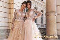 Вечернее платье 15088. Цвет розовый. Вид 4