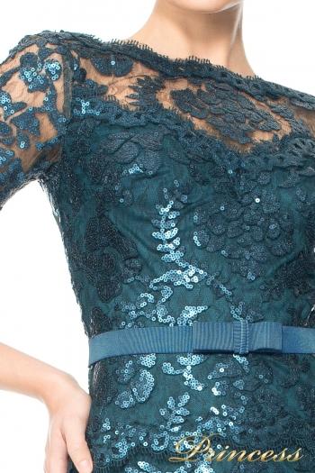 Вечернее платье Tadashi Shoji ALT1224LS. Цвет синий. Вид 2