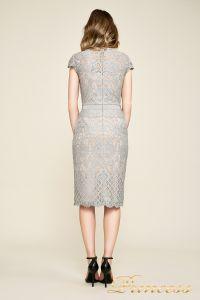 Вечернее платье AUA18795M pwtpl. Цвет стальной. Вид 4