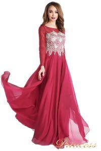 Вечернее платье 20245-052 marsala. Цвет красный. Вид 2