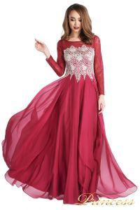 Вечернее платье 20245-052 marsala. Цвет красный. Вид 1