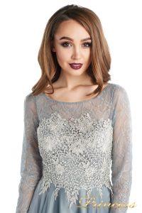 Вечернее платье 20245-171 gray. Цвет стальной. Вид 4