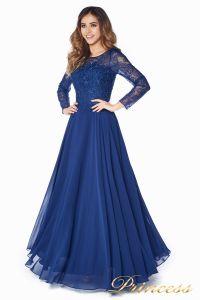 Вечернее платье 20245. Цвет синий. Вид 2