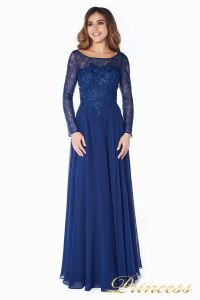 Вечернее платье 20245. Цвет синий. Вид 3