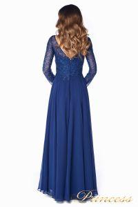 Вечернее платье 20245. Цвет синий. Вид 4