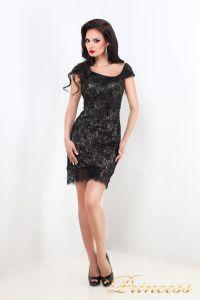 Коктейльное платье 212046. Цвет чёрный. Вид 3