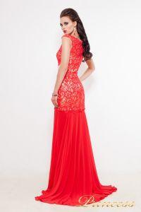 Вечернее платье 213126. Цвет красный. Вид 2