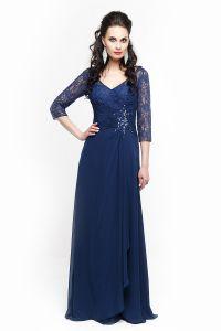 Вечернее платье 213196. Цвет синий. Вид 1