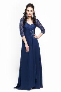 Вечернее платье 213196. Цвет синий. Вид 2