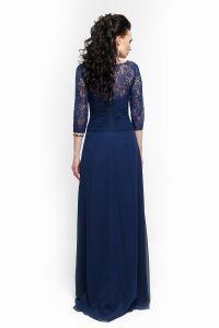 Вечернее платье 213196. Цвет синий. Вид 3