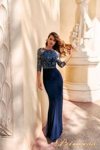 Вечернее платье NF-2132. Цвет синий королевский . Вид 1