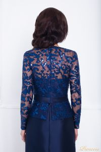 Вечернее платье 215012. Цвет синий. Вид 2