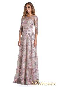 Вечернее платье 216028 light pink. Цвет цветочное. Вид 4