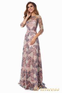 Вечернее платье 216028 flowers. Цвет шампань. Вид 3