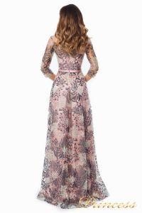 Вечернее платье 216028 flowers. Цвет шампань. Вид 5