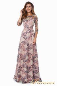 Вечернее платье 216028 flowers. Цвет шампань. Вид 4