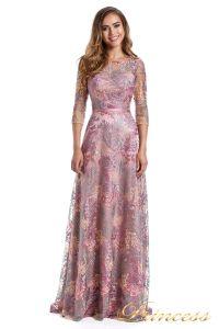 Вечернее платье 216028 dark pink. Цвет цветочное. Вид 3