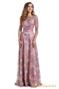 Вечернее платье 216028 dark pink. Цвет цветочное. Вид 4