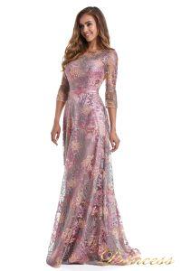 Вечернее платье 216028 dark pink. Цвет цветочное. Вид 1