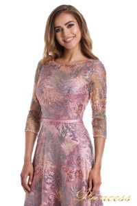 Вечернее платье 216028 dark pink. Цвет цветочное. Вид 5