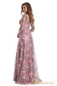 Вечернее платье 216028 dark pink. Цвет цветочное. Вид 6
