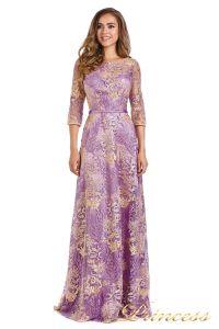 Вечернее платье 216028 violet. Цвет цветочное. Вид 1