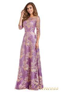 Вечернее платье 216028 violet. Цвет цветочное. Вид 2