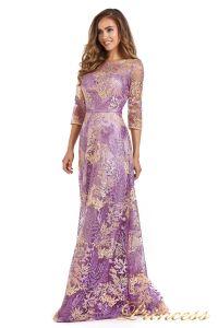 Вечернее платье 216028 violet. Цвет цветочное. Вид 3