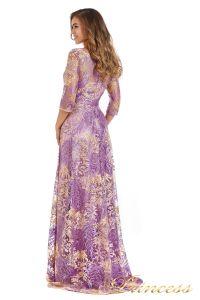 Вечернее платье 216028 violet. Цвет цветочное. Вид 4