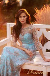 Вечернее платье NF-216028-trq. Цвет бирюзовый. Вид 4