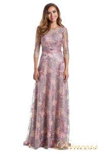 Вечернее платье 216028 dark pink. Цвет цветочное. Вид 2