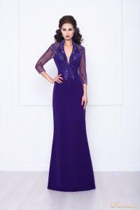 Вечернее платье 68070. Цвет фиолетовый. Вид 1