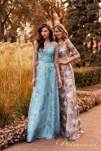 Вечернее платье NF-216028-trq. Цвет бирюзовый. Вид 1