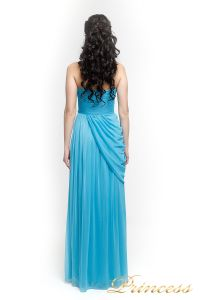 Вечернее платье 222. Цвет голубой. Вид 3