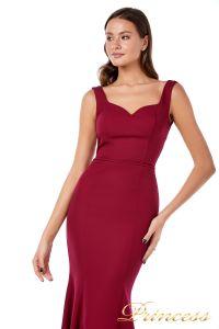 Вечернее платье 227543 red. Цвет wine. Вид 2