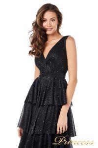 Вечернее платье 227604-black. Цвет чёрный. Вид 4