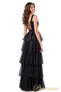 Вечернее платье 227604-black. Цвет чёрный. Вид 3