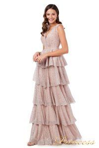 Вечернее платье 227604 pink. Цвет пудра. Вид 2