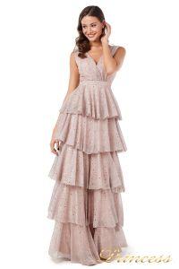 Вечернее платье 227604 pink. Цвет пудра. Вид 3