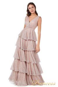 Вечернее платье 227604 pink. Цвет пудра. Вид 1