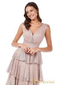 Вечернее платье 227604 pink. Цвет пудра. Вид 4