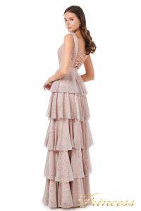 Вечернее платье 227604 pink. Цвет пудра. Вид 5