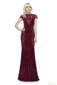 Вечернее платье Tadashi Shoji AZG17767L WINE. Цвет красный. Вид 1