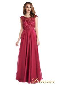 Вечернее платье 24166-052 marsala. Цвет малиновый. Вид 1