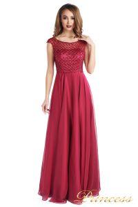 Вечернее платье 24166-052 marsala. Цвет малиновый. Вид 3