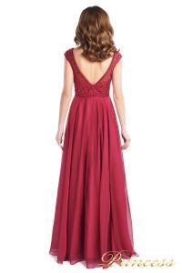 Вечернее платье 24166-052 marsala. Цвет малиновый. Вид 5
